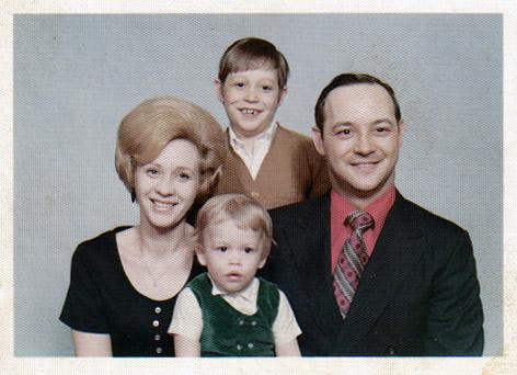 Larry, JoCilla, Jamie, and Tim Whims, Rittman, Ohio, 1970