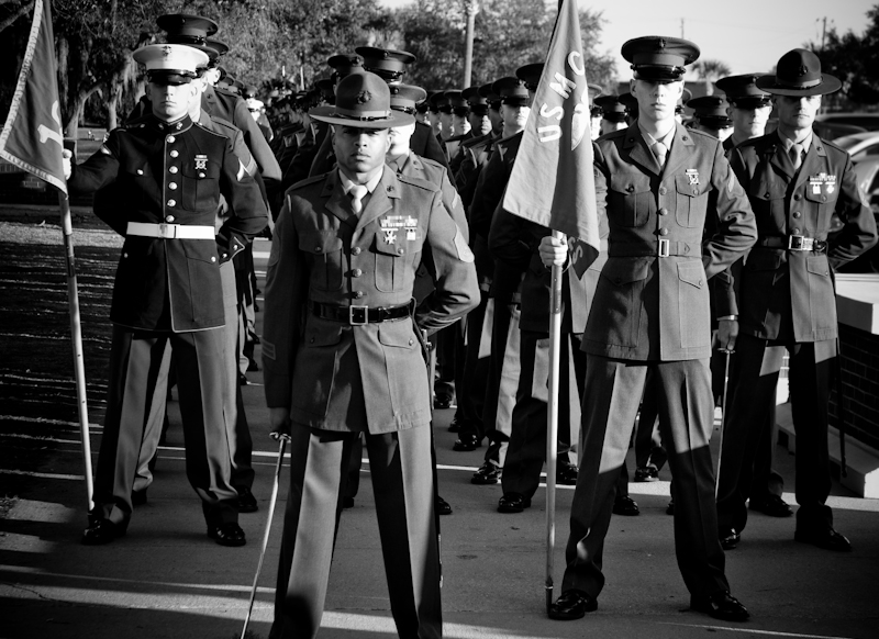 At Attention Parris Island Marine Boot Camp Graduation